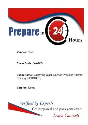 Updated Cisco 642-883 Exam Questions | Dumps4download.co.in