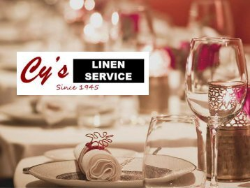 Commercial Linen Services to Restaurants
