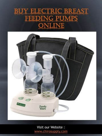 Buy Electric Breast Feeding Pumps Online | 8775639660 | chirosupply.com