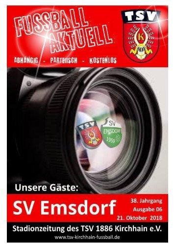 21.10.2018 Stadionzeitung SV Emsdorf