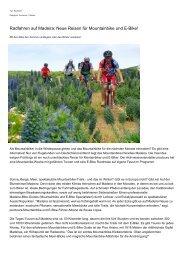 Radfahren auf Madeira: Neue Reisen fuer Mountainbike und E-Bike!