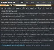 Amaya Mathur Mumbai Independent Female, Mumbai Escorts Services 24 7