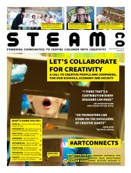 STEAM Co. 'Collaborate for Creativity' newspaper