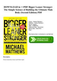 Bigger Leaner Stronger Second Edition Pdf