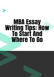 MBA Essay Writing Tips: How to Start and Where to Go