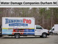 Professional Water Damage Companies in Durham NC