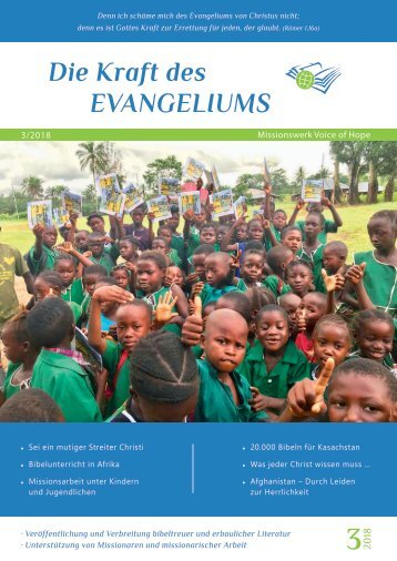Voice of Hope Magazin 3/18