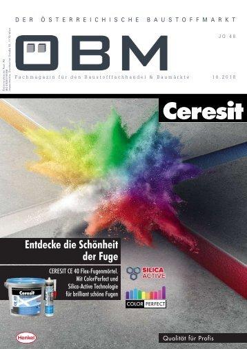 2018-10 OEBM Der Österreichische Baustoffmarkt - Entdecke die Schönheit der Fuge