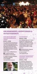 Weihnachtsstadt Programmheft 2018 Kirchen