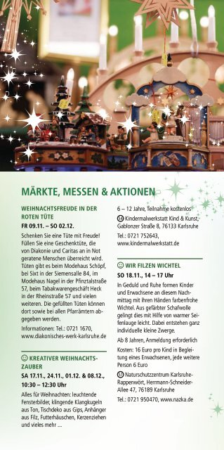 Weihnachtsstadt Programmheft 2018 Maerkte