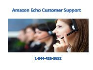 amazon echo Alexa customer Support Service 1-844-426-3652