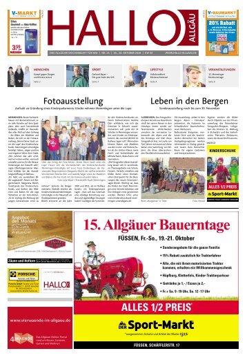 Hallo-Allgäu Memmingen vom Samstag, 20.Oktober