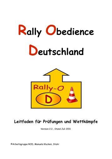 Rally Obedience Deutschland Leitfaden für Prüfungen und ...