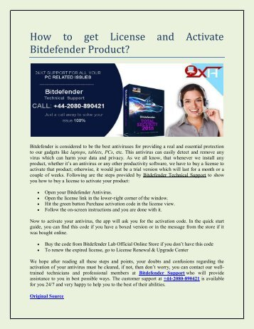 How to get License and Activate Bitdefender Product?