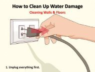 How to Clean Up Water Damage in Your Wall and Floors
