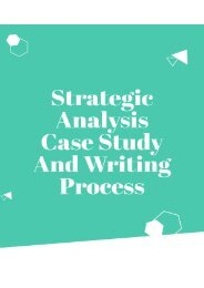 Strategic Analysis Case Study and Writing Process