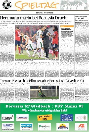 Spieltag: Borussia - FSV Mainz 05  -20.10.2018-
