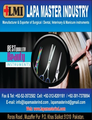 Beauty instruments, Manicure & Pedicure Implements PDF Catalogue