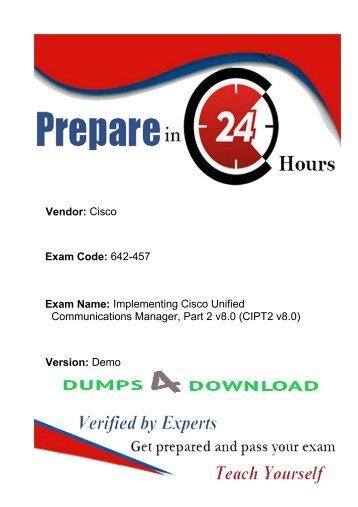 Download Exact Cisco 642-457  Exam Study Guide -642-457 Exam Dumps
