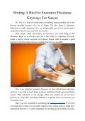 Writing a Bio for Executive Positions: Keyways for Sucess - Page 2