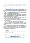 Writing a Bio for Executive Positions: Keyways for Sucess - Page 4