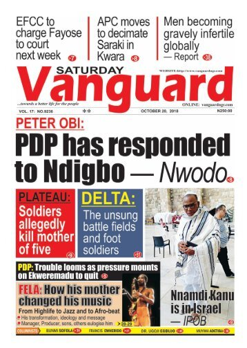 20102018 - Peter Obi: PDP has responded to yearnings of Ndigbo — Nwodo