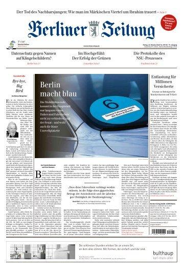 Berliner Zeitung 19.10.2018