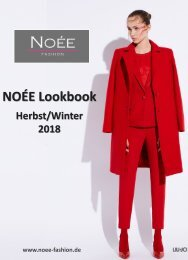 NOÉE Lookbook Herbst/Winter 2018