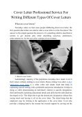Cover Letter Professional Service for Writing Different Types of Cover Letters - Page 2