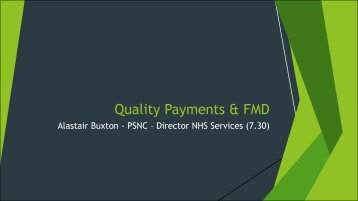 Quality Payments by Alastair Buxton