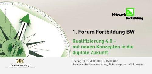 Broschüre 1. Forum Fortbildung Baden-Württemberg