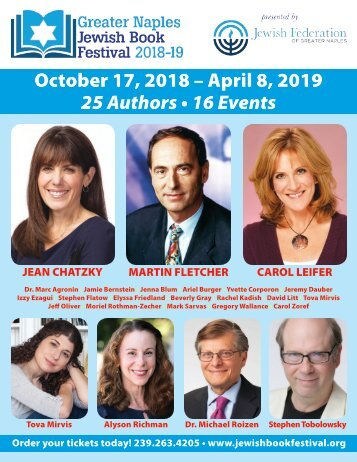 Jewish Book Festival 2018-19 brochure