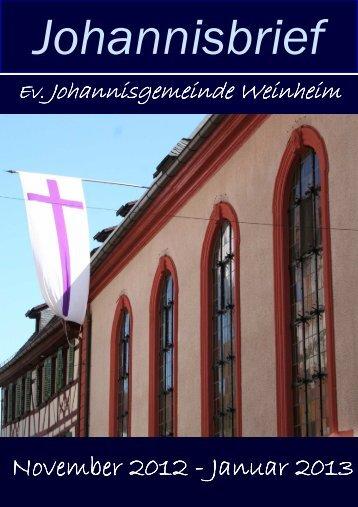Johannisbrief - in der evangelischen Johannisgemeinde Weinheim