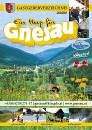 gastgeberverzeichnis.. - Gemeinde Gnesau