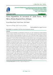 Forest degradation: An assessment of Gedo Forest, West Shewa, Oromia Regional State, Ethiopia