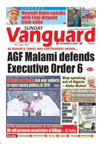 22102018 - AGF Malami defends Executive Order 6