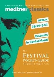medtner classic 2018 Festival Pocket Guide