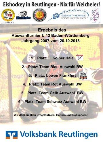 Ergebnisstand U12 Auswahlturnier Baden Württemberg 20102018