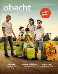 obacht Familienmagazin August/September 2018