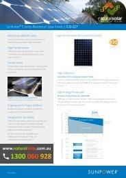 Natural Solar - SunPower E20-327 Residential Solar Panels