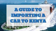 Shipping a Car to Mombasa From UK | Auto Kenya