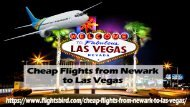 Where is it possible to get cheap flights from Newark to Las Vegas?
