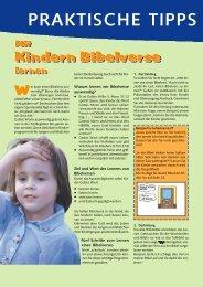Mit Kindern Bibelverse lernen - KEB