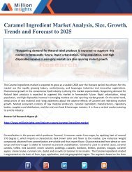 Caramel Ingredient Market Analysis, Size, Growth, Trends and Forecast to 2025
