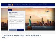 Singapore airlines manage booking in 5 minute at contact number