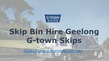 Skip Hire Torquay - Managing the Waste of the Community