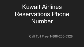 Kuwait Airlines Reservations Phone Number