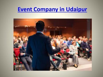 Event Company in Udaipur