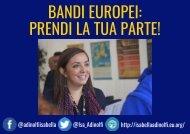 BANDI EUROPEI: PRENDI LA TUA PARTE!
