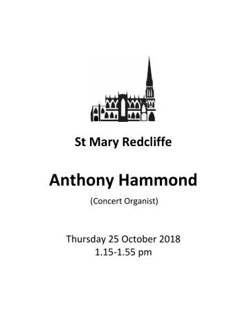 St Mary Redcliffe Church Lunchtime at Redcliffe - Anthony Hammond October 25 2018